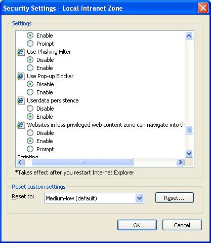 How to remove POP up blockers in IE